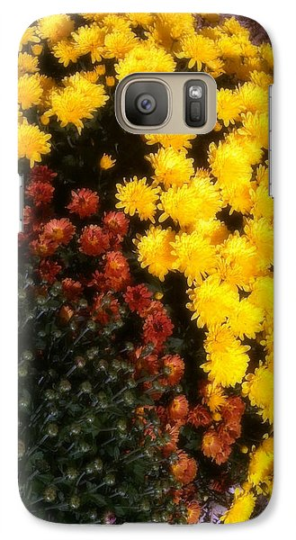 Galaxy Case featuring the photograph Mums In The Fall by Deborah Fay