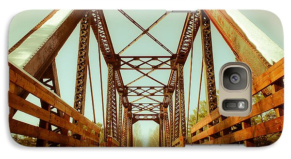 Galaxy Case featuring the photograph Munger Trail Crossing by Mark David Zahn