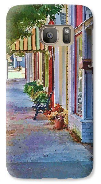 Galaxy Case featuring the photograph Murphy Nc Sidewalk by Kenny Francis
