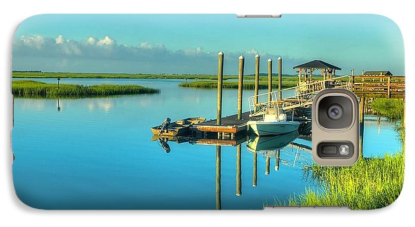 Galaxy Case featuring the photograph Murrells Inlet Dock by Ed Roberts