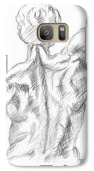 Galaxy Case featuring the drawing Muscular Back by Tamyra Crossley