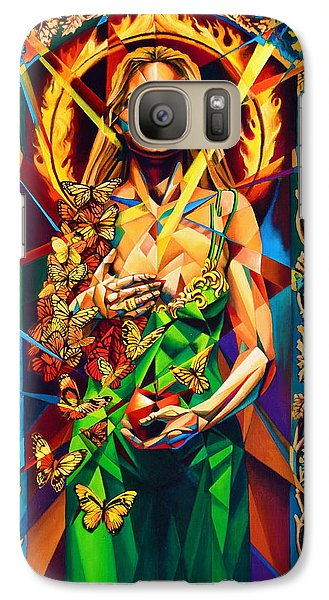 Galaxy Case featuring the painting Muse  Autumn by Greg Skrtic