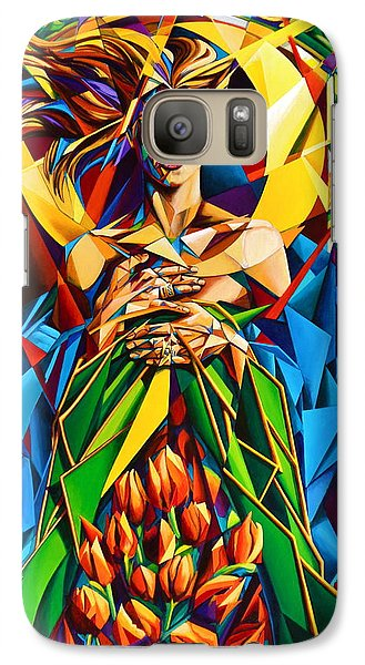 Galaxy Case featuring the painting Muse  Spring by Greg Skrtic