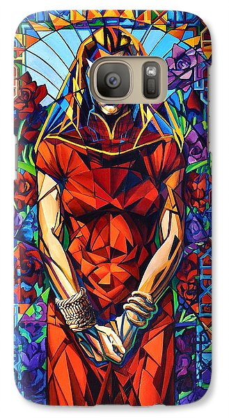 Galaxy Case featuring the painting Muse  Winter/mourning by Greg Skrtic