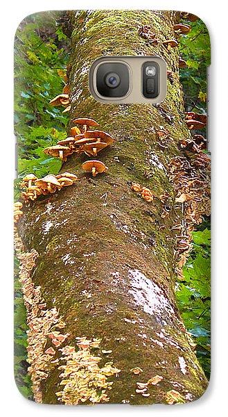 Galaxy Case featuring the photograph Mushroom's Kingdom by Milena Ilieva