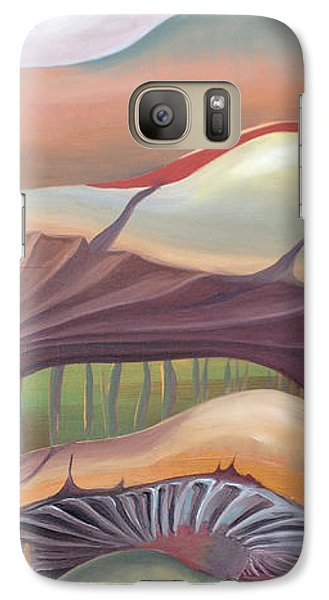 Galaxy Case featuring the painting Mushrooms Landscape by Art Ina Pavelescu
