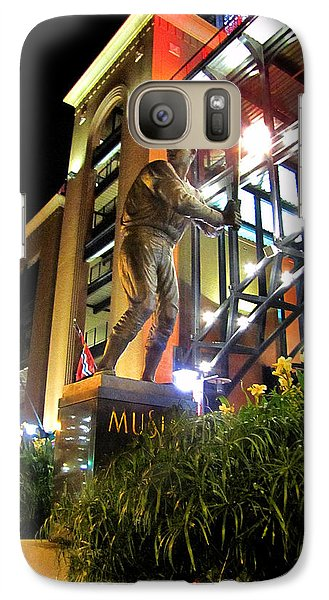 Galaxy Case featuring the photograph Musial Statue At Night by John Freidenberg