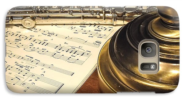 Galaxy Case featuring the photograph Music And Flute by Dawn Romine