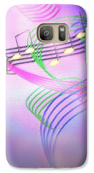 Galaxy Case featuring the digital art Musical Alchemy by Dee Davis
