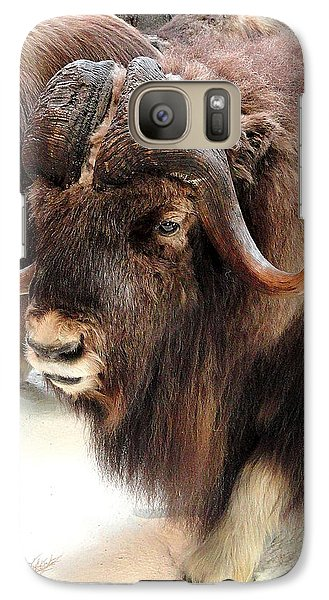 Galaxy Case featuring the photograph Muskox by Mary Beth Landis