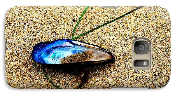 Galaxy Case featuring the photograph Mussel Shell And Seagrass by Bob Wall