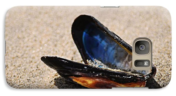 Galaxy Case featuring the photograph Mussel Shell by Bob Wall