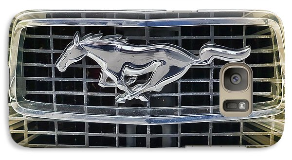 Galaxy Case featuring the photograph Mustang Emblem by Victor Montgomery