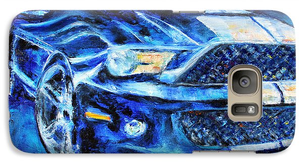 Galaxy Case featuring the painting Mustang by Jennifer Godshalk
