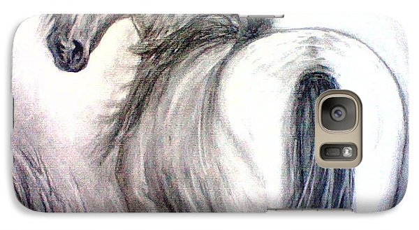 Galaxy Case featuring the drawing Mustang by J L Zarek