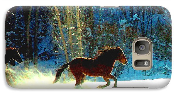 Galaxy Case featuring the photograph Mustangs Gallope El Valle Nm by Anastasia Savage Ealy