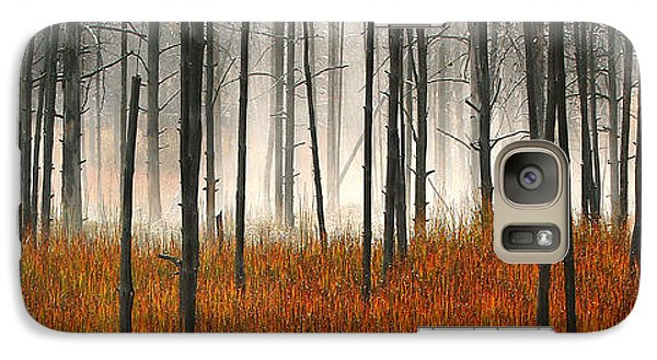 Galaxy Case featuring the photograph Mute Dog Forest Pano by Clare VanderVeen