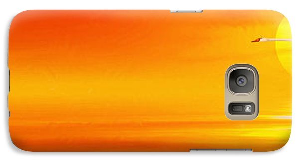 Mute Sunset Galaxy Case by John Edwards