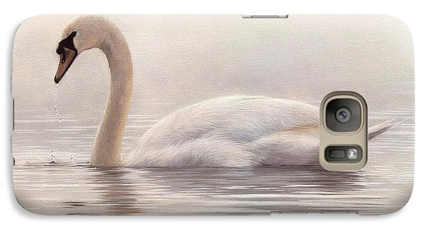 Mute Swan Painting Galaxy S7 Case by Rachel Stribbling