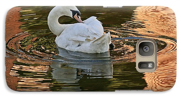 Galaxy Case featuring the photograph Preening by Kate Brown