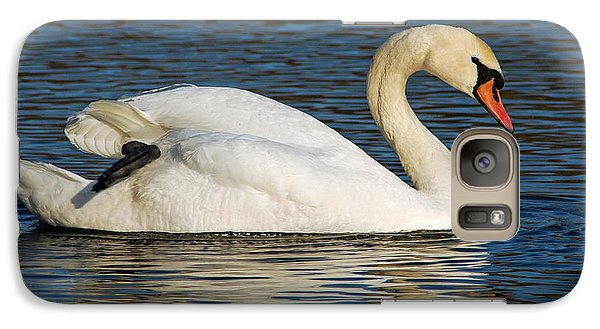 Galaxy Case featuring the photograph Mute Swan Resting by Olivia Hardwicke