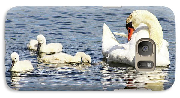 Galaxy Case featuring the photograph Mute Swans by Alyce Taylor