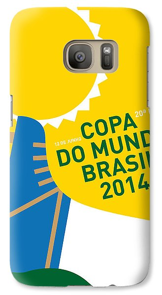 Sports Galaxy S7 Case - My 2014 World Cup Soccer Brazil - Rio Minimal Poster by Chungkong Art