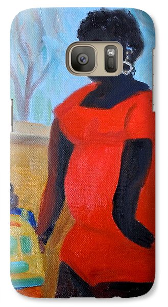 Galaxy Case featuring the painting My Beautiful Mamma by Francine Frank