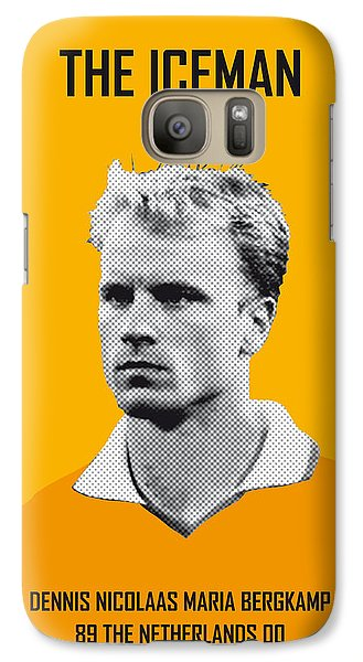 My Bergkamp Soccer Legend Poster Galaxy S7 Case by Chungkong Art