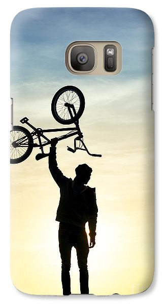 Bicycle Galaxy S7 Case - Bmx Biking by Tim Gainey