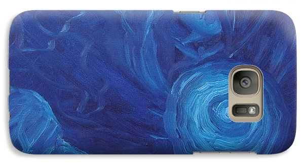 Galaxy Case featuring the painting My Blue Dream by Nina Mitkova