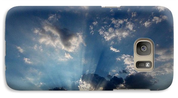 Galaxy Case featuring the photograph My Blue Heaven by Carolyn Repka