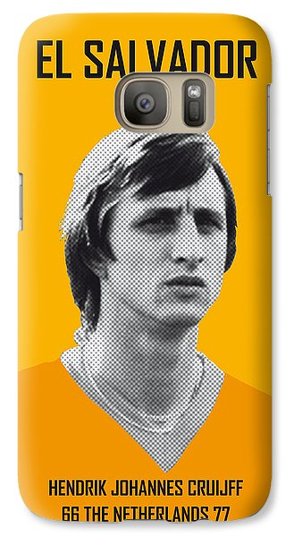 My Cruijff Soccer Legend Poster Galaxy S7 Case by Chungkong Art