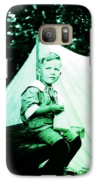 Galaxy Case featuring the photograph My Dad... by Eddie Eastwood