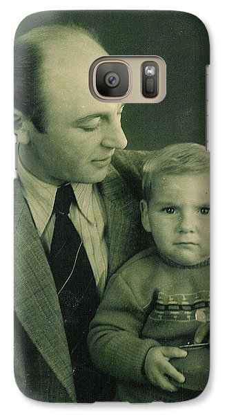 Galaxy Case featuring the photograph My Dad - My Angel by Itzhak Richter