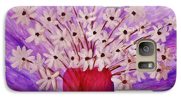 Galaxy Case featuring the painting My Daisies by Ramona Matei