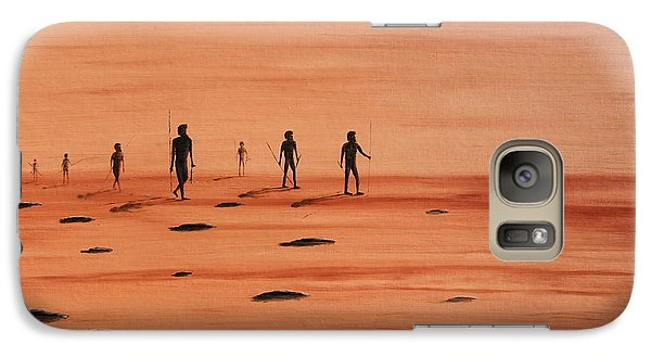 Galaxy Case featuring the painting My Dreamtime 2 by Tim Mullaney