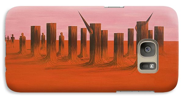 Galaxy Case featuring the painting My Dreamtime 3 by Tim Mullaney