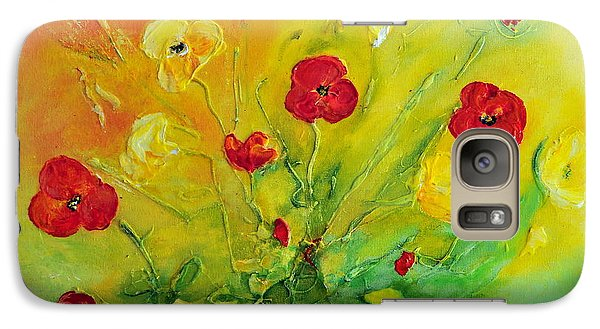 Galaxy Case featuring the painting My Favourite by Teresa Wegrzyn