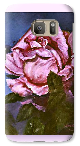 Galaxy Case featuring the painting My First Rose by Lynne Wright