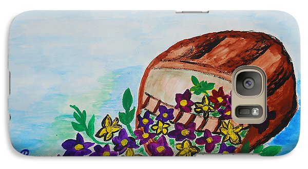 Galaxy Case featuring the painting My Flower Basket by Ramona Matei