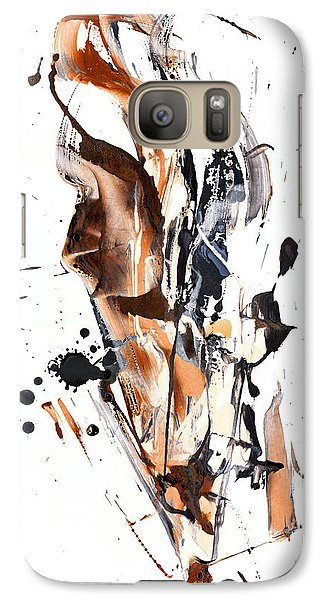 Galaxy Case featuring the painting My Form Of Jazz Series - 10189.110709 by Kris Haas
