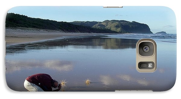 Galaxy Case featuring the photograph My Friend Photographer by Jola Martysz