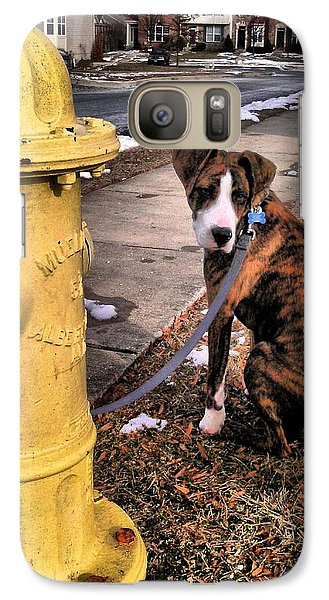 Galaxy Case featuring the photograph My Friend Plug by Robert McCubbin