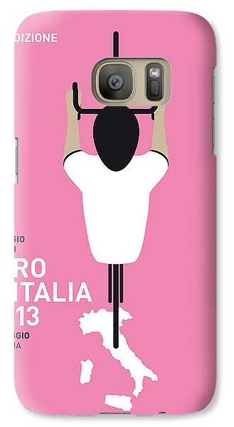 Bicycle Galaxy S7 Case - My Giro D'italia Minimal Poster by Chungkong Art