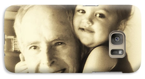 Galaxy Case featuring the digital art My Great Granddaughter  by Kathy Tarochione