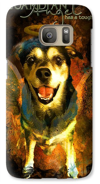Galaxy Case featuring the digital art My Guardian Angel - Hollister by Kathy Tarochione