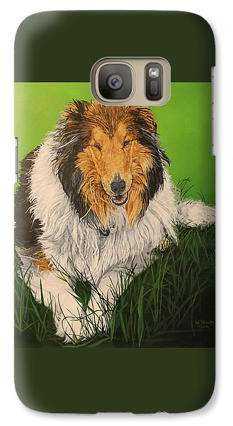 Galaxy Case featuring the painting My Guardian  by Wendy Shoults