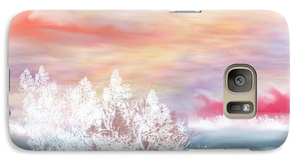 Galaxy Case featuring the painting My Heaven by Lori  Lovetere