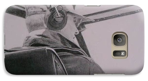Galaxy Case featuring the drawing My Hero by Mary Lynne Powers